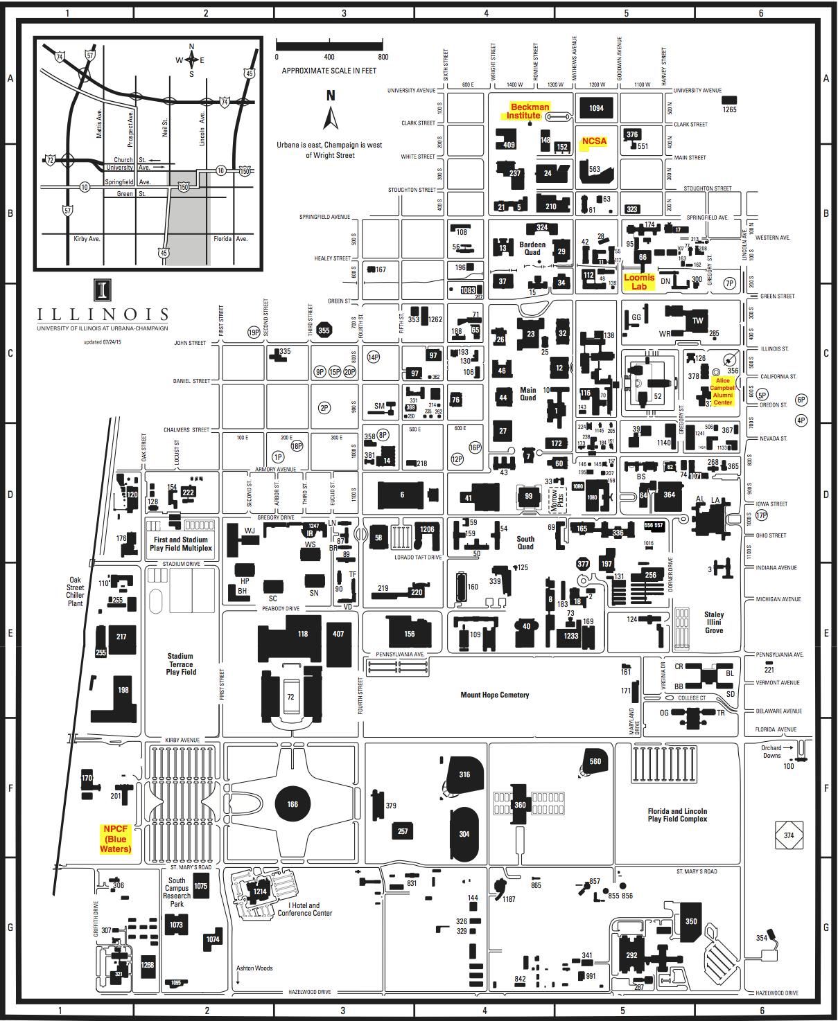 University Of Illinois Campus Map S2I2 HEP/CS Workshop 2016 University Of Illinois Campus Map